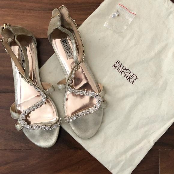 0805c5b3d3bd0 Badgley Mischka Shoes - Jewel Badgley Mischka Gamble Embellished Sandal